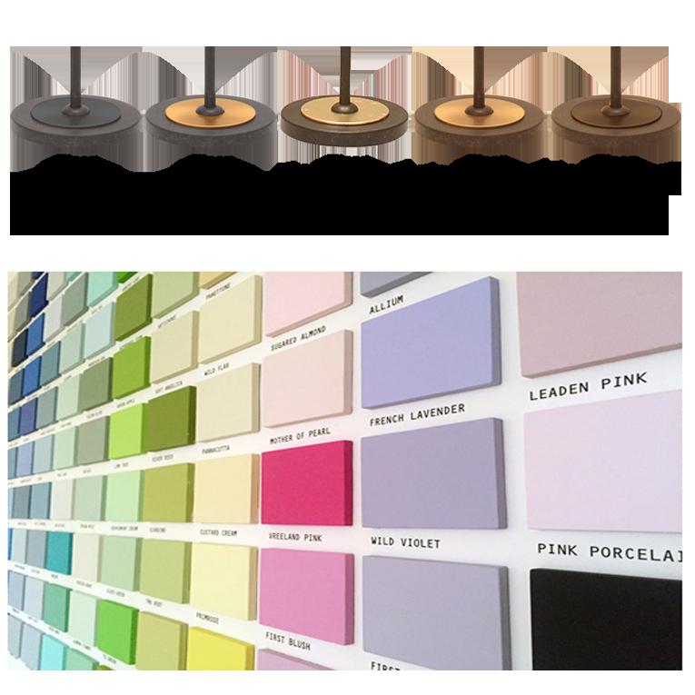 Flair Füsse + Schirm Strichlack Farben Auswahl